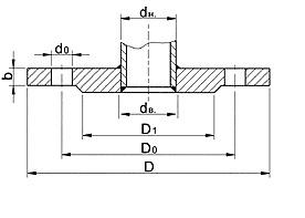 Чертёж и размеры фланца плоского по ГОСТ 12820-80