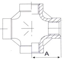 Крестовина из нержавеющей стали - схема