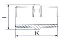 Ниппель с шестигранником НР-НР - схема