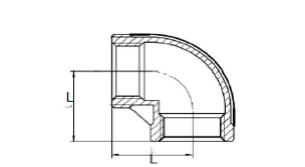 Отвод нержавеющий 90 градусов ВР-ВР схема