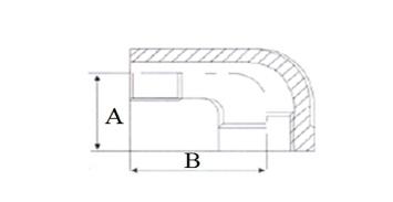 Отвод нержавеющий 90 градусов НР-ВР - схема