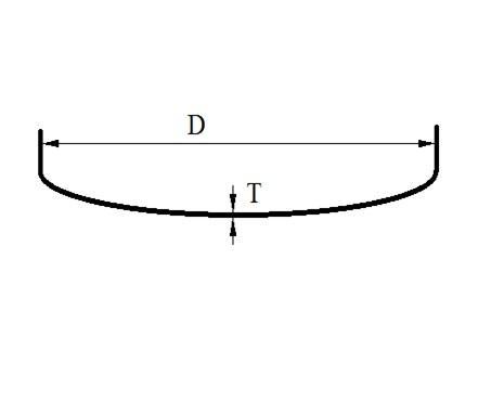 заглушка эллиптическая - чертеж