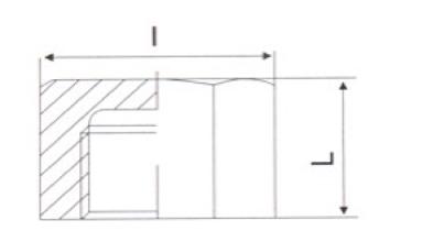 Заглушка нержавеющая с внутренней резьбой - схема