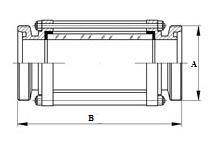 Трубный диоптр из нержавеющей стали - схема